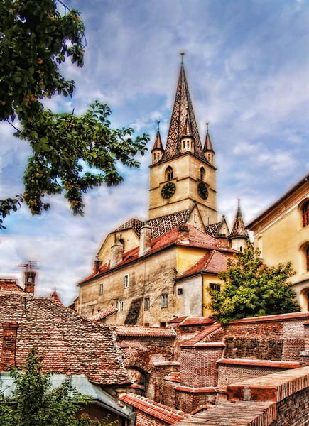 Sibiu Church Tower 17x14    $225