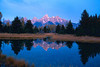 Teton Reflections<br /> Grand Teton National Park WY.<br /> copyright Jack Nordeen 1999<br /> Sizes & Prices 8x10 $75.00, 11x14 $125.00, 16x20 $175.00 Photo only, Custom Framing available. Larger Sizes available to 48x72 with most images