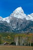 Grand Teton Peak<br /> Grand Teton National Park WY.<br /> copyright Jack Nordeen 1998<br /> Sizes & Prices 8x10 $75.00, 11x14 $125.00, 16x20 $175.00 Photo only, Custom Framing available. Larger Sizes available to 48x72 with most images