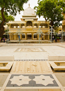 Interior courtyard for music and dance recitals, Udaipur city palace