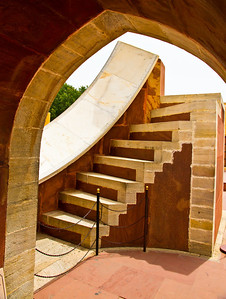 "Jantar Mantar, Jaipur. ""Laghu samrat yantra"" - smaller sun-dial. Accurately tells time to 20seconds."