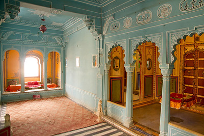 Living quarters of the kings. Udaipur city palace.