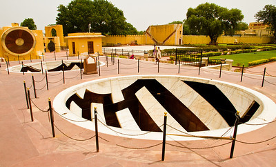 "Jantar Mantar, Jaipur. ""Jai Prakash yantra"" - based on where the sun is located - this tells the relative locations of the various constellations."