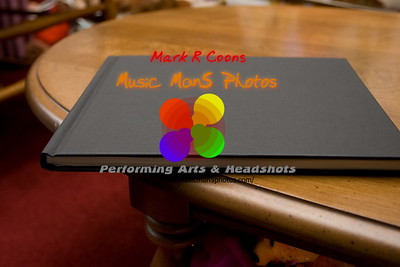 photo of the binding on the Blurb book