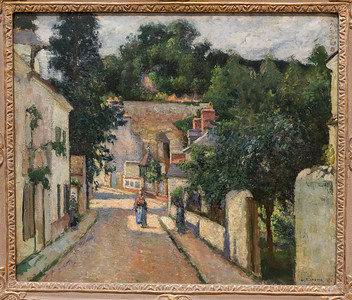 Rue de l'Hermitage, Pontoise 1875 - Camille Pissaro