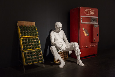Coca Cola Machine and Boy