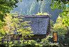 A view of one of the traditional Gasshozukuri houses (shaped like hands clasped together in prayer) in Gifu's shirakawa village.