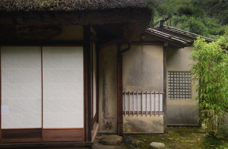 Backside of a tea house at Ritsurin Park in Takamatsu.