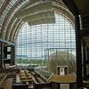 Massive hotel atrium