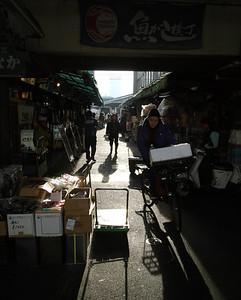 Tsukiji Market alleyways