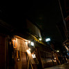 The eery lighting of Gion at night.