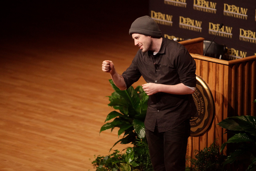Director Jason Reitman visits DePauw to present an Ubben lecture on Mar. 15, 2010.