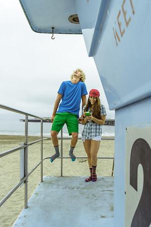 Noah and Allison. Lifestyle Santa Cruz, CA