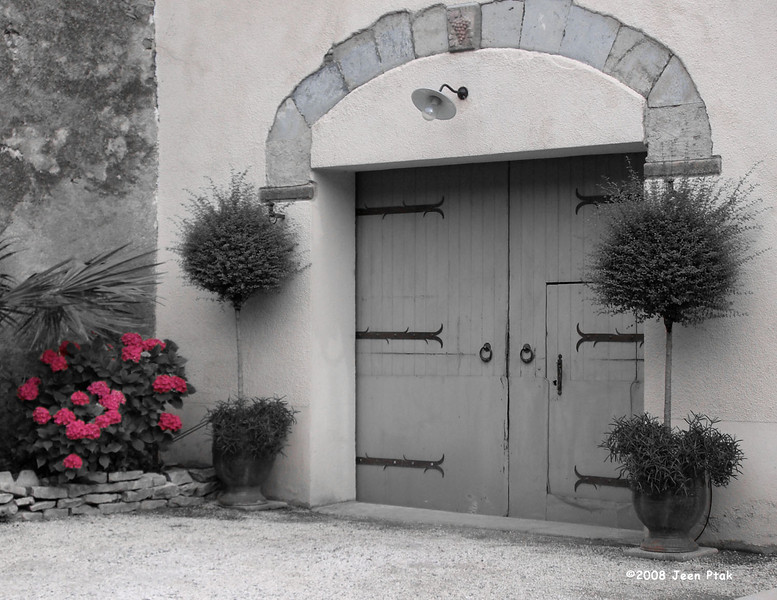 Tweaked B&W - Residential Entrance, Carcassonne, France