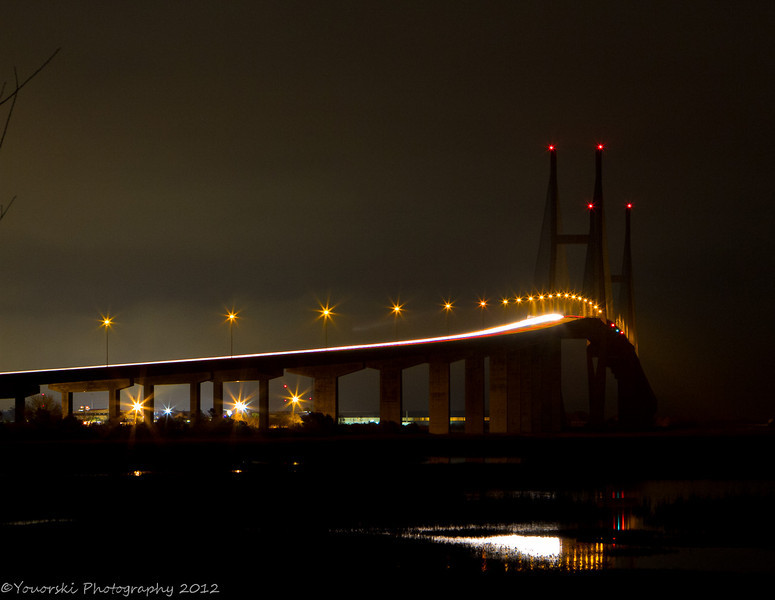 All the pretty lights. Sidney Lanier Bridge.