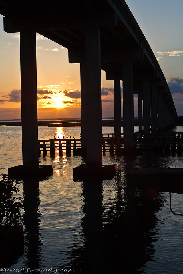 Under the bridge to Jekyll Island GA