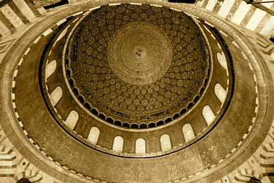 Inner Dome panorama - Dome of the Rock, Jerusalem