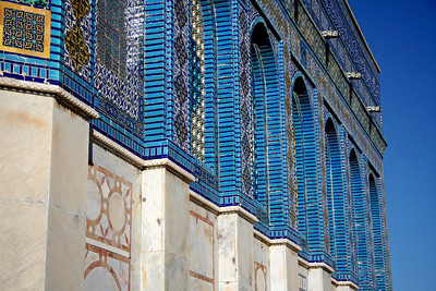 Blue sidewall - Dome of the Rock, Jerusalem