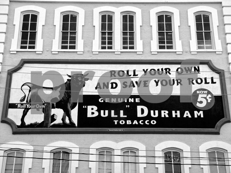 Bull Durham Roll Your Own Sign V2 b&w