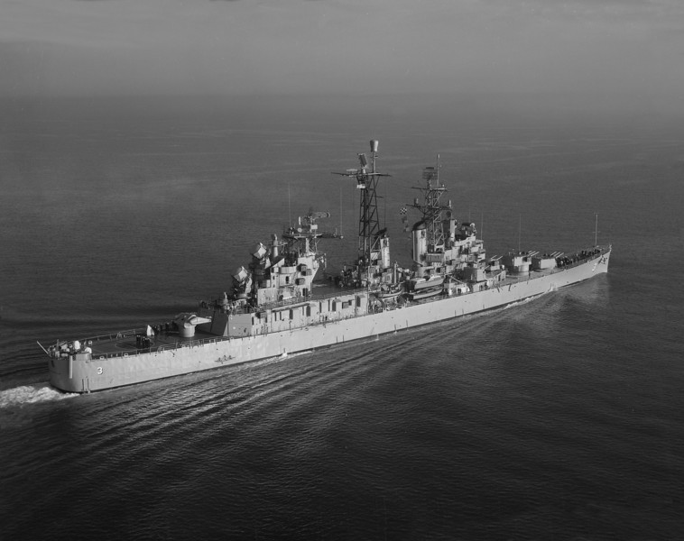 USS Galveston (CLG-3)<br /> <br /> Date: November 28 1960<br /> Location: Hampton Roads VA<br /> Source: Nobe Smith - Atlantic Fleet Sales