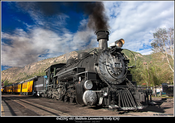 D&SNG 481 (Baldwin Locomotive Works K36)