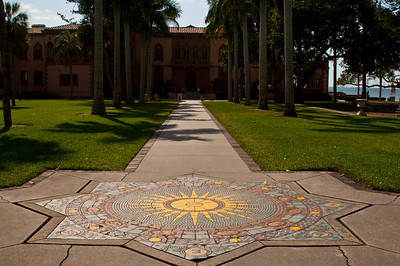 North America, USA, Florida, Sarasota. John and Mabel Ringling Mansion, Ca'd Zan