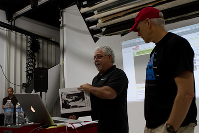 Chris MacAskill introduces Larry Abitbol of Bayphoto, who shows off some new ways to present photo collections.