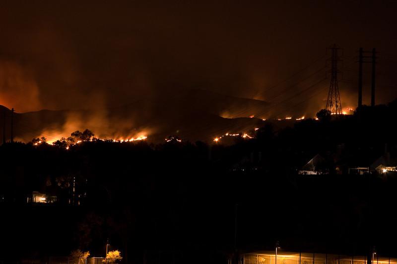 Fiery Portola Hillside