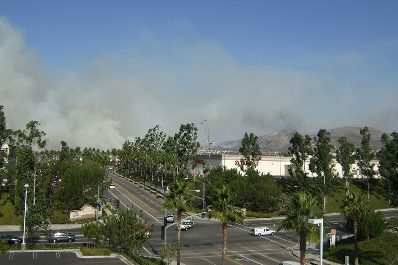 Fire Behind Foothill Ranch