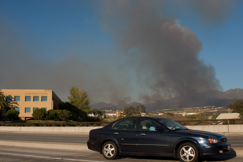 Silverado Canyon Fire from Saddleback