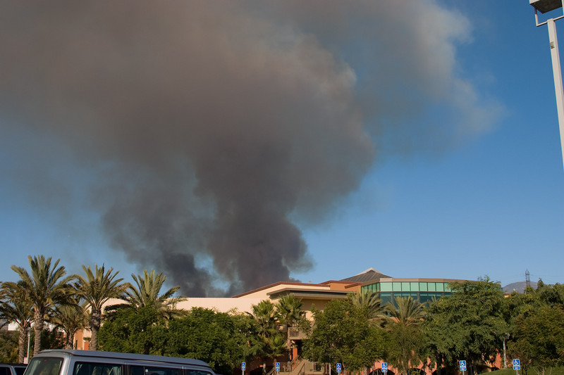 Silverado Canyon Fire Behind Children's Building