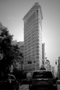 Flatiron Building in New York City done in monochrome.  Photographed during a recent visit to NYC.