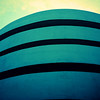 The Guggenheim in New York City looking a bit blue and abstract.  An edit of a photo of the museum from a recent trip to NYC.