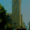 Flatiron Building in New York City done in color and with texture.  Photographed during a recent visit to NYC.