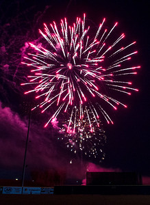 KRISTIN BAUER | CHRONICLE Fireworks commenced after the Lake Erie Crushers finished their game against the Otters on Sunday night, July 3 at All Pro Freight Stadium, in Avon.