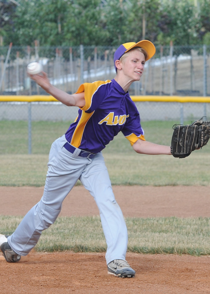 Chase Myers pitches for Avon on July 8.  STEVE MANHEIM/CHRONICLE