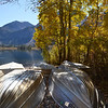 The Fishing Boats are Ready for Winter at Silver Lake near June Lake California