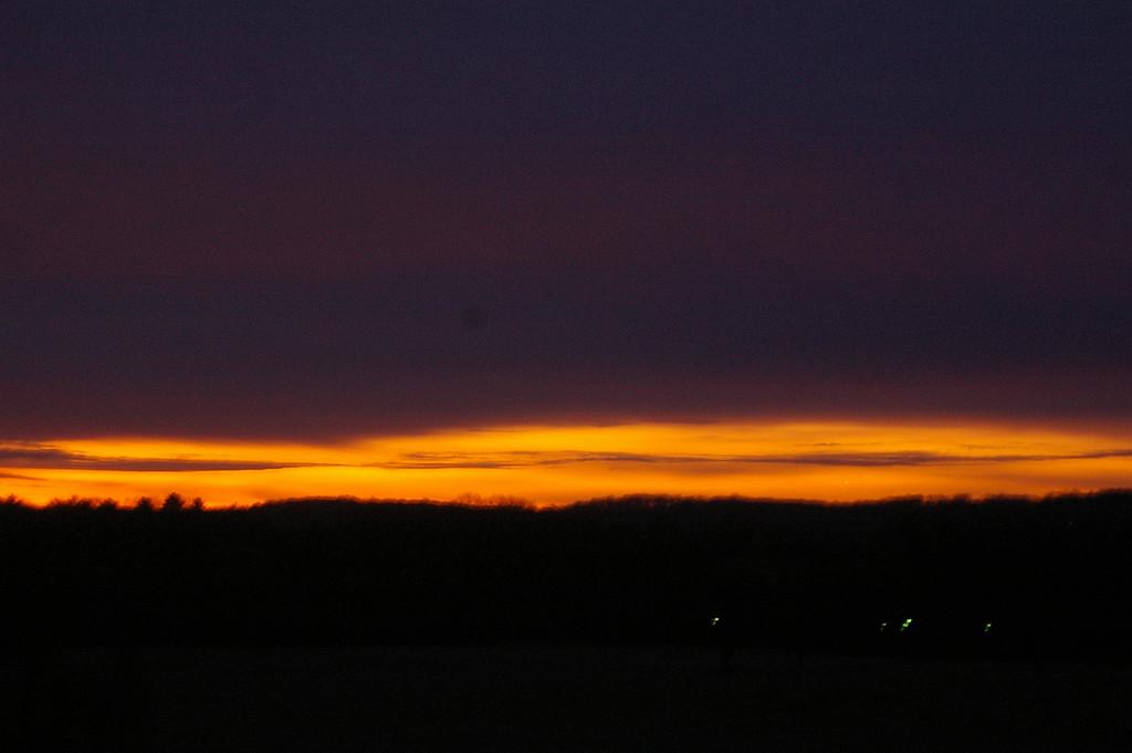 Sunrise in Valle Forge Park.