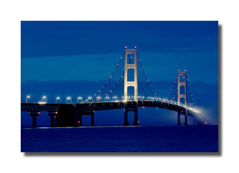Mackinac Bridge After Dusk