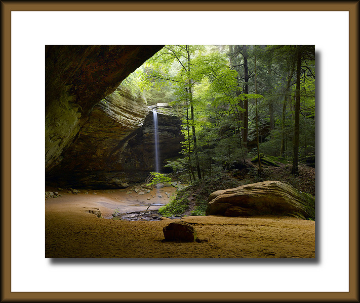 Ash Cave Hocking Hills  digital 4x5 camera 200 megapixel.