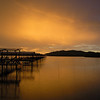 Dusk at Salut Bay <br /> was driving Ivan, Soomeng, James, Seekiong, New for the seafood break at Salut Bay, it was raining whole day and when we reached there, the sky turned gold, i took out my camera and capture this fantastic moment.