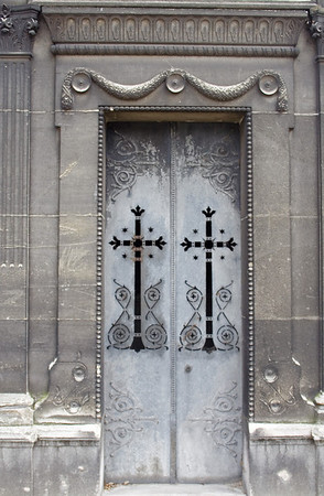 Door of Crypt in Cimetrie de Montmartre