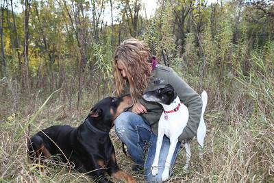Katrina Monty and Big Dog October 2013