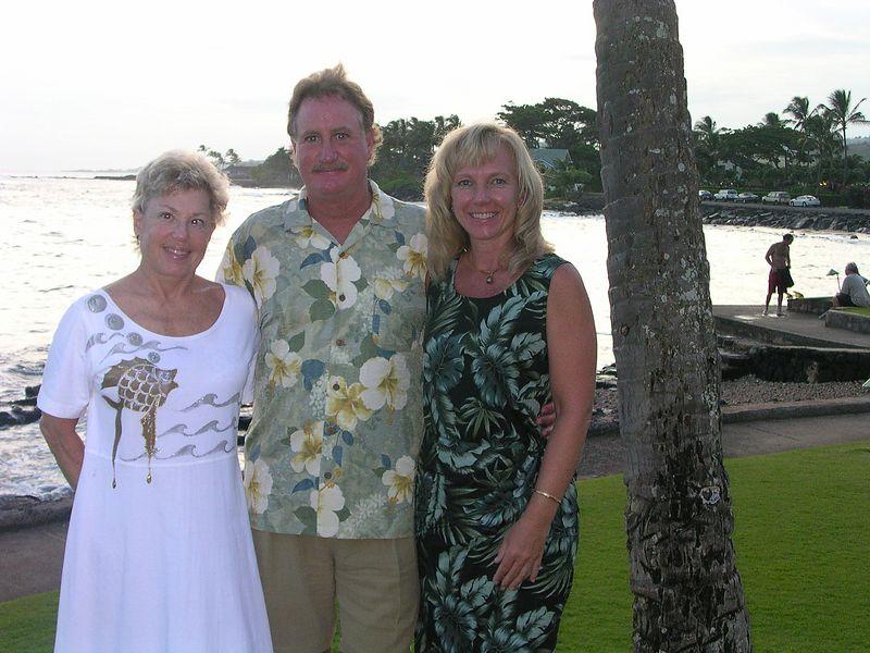 Lucy, John, Amy at The Beach House, Po'ipu