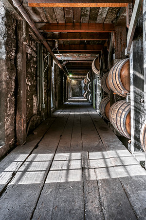 A Corridor of Aged Whiskey Barrels - Buffalo Trace Distillery