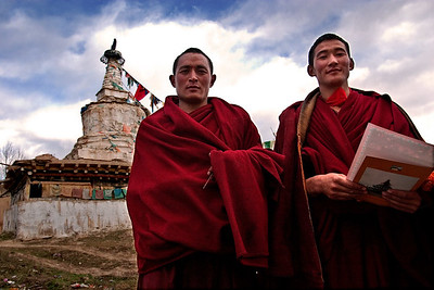 Two Monks-Dipu Monastery