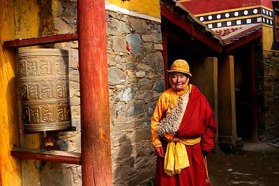 Kirti Monastery woman