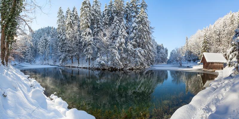 Schwarzer See bei Satteins 160x80