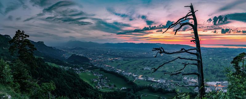 Am Breitenberg nach Sonnenuntergang
