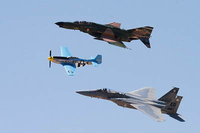 F-4, P-51, F-15 top to bottom